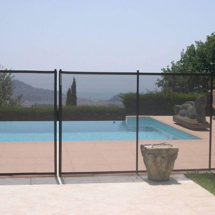 Recinzione di sicurezza in piscina beethoven morbida colori premium - Recinzione piscina legno ...