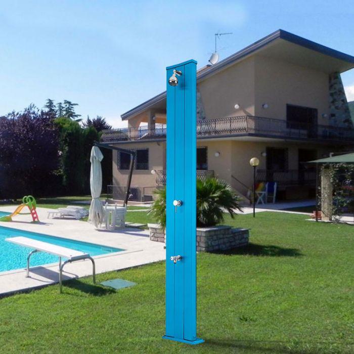Doccia solare dada s 40 litri con miscelatore e lavapiedi - Doccia solare per piscina ...