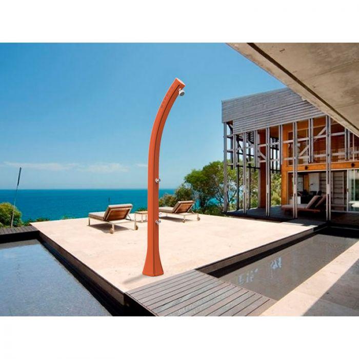 Doccia solare per piscina happy five con miscelatore e - Doccia solare per piscina ...