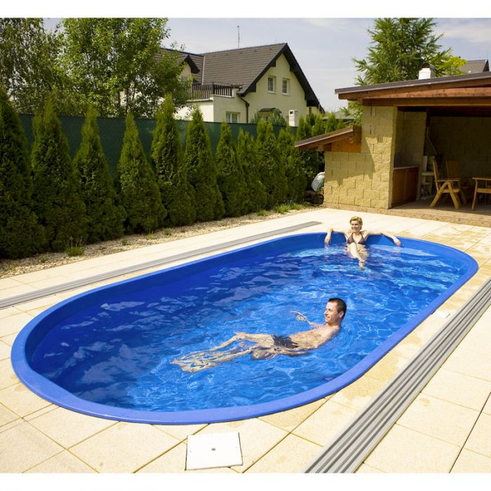 Piscina interrata in vetroresina IKAROS 6,00 x 3,00 - h.1,40  BSVillage.com