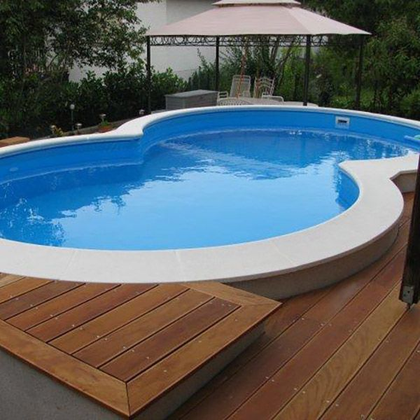 Piscina fuori terra a otto isabella 525 5 25 x 3 20 h 1 for Liner piscine 3 50 x1 20