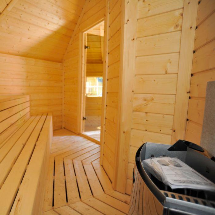 Sauna finlandese tradizionale da esterno olaf 10 15 posti - Sauna da esterno ...