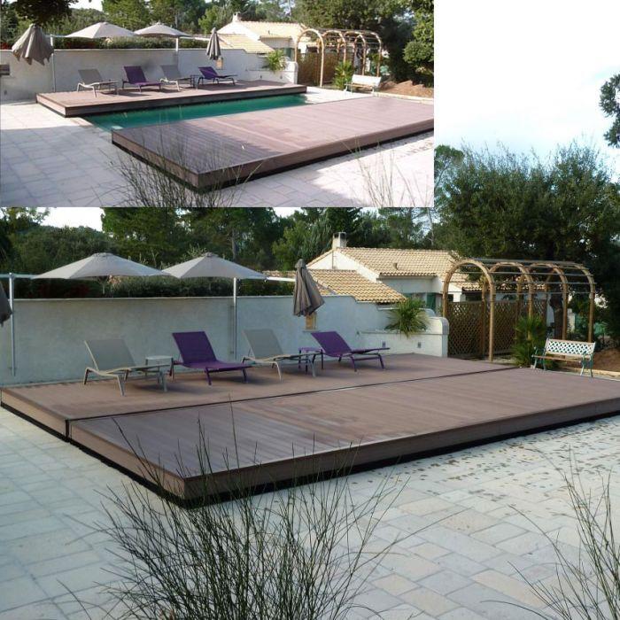 Copertura di sicurezza per piscina COVERWOOD a terrazza | BSVillage.com