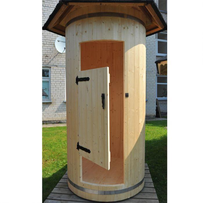 Cabina doccia da esterno tilli in legno 1 20 x h 2 90 m - Piscine da esterno in legno ...