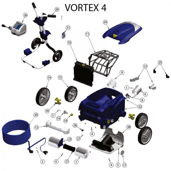 ricambi per robot zodiac vortex 4 bsvillage