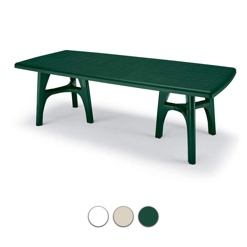 Tavoli Da Giardino Economici In Plastica.Tavolo Da Giardino President Tris In Resina Allungabile By Scab