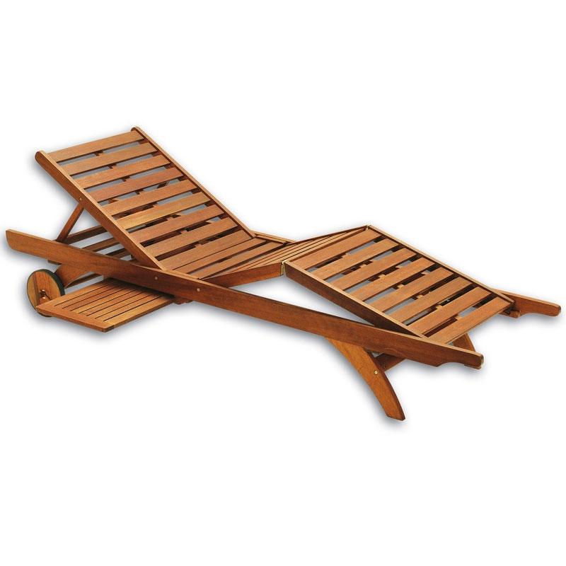 Lettino prendisole in legno aloe regolabile con portaoggetti - Sdraio da giardino ikea ...