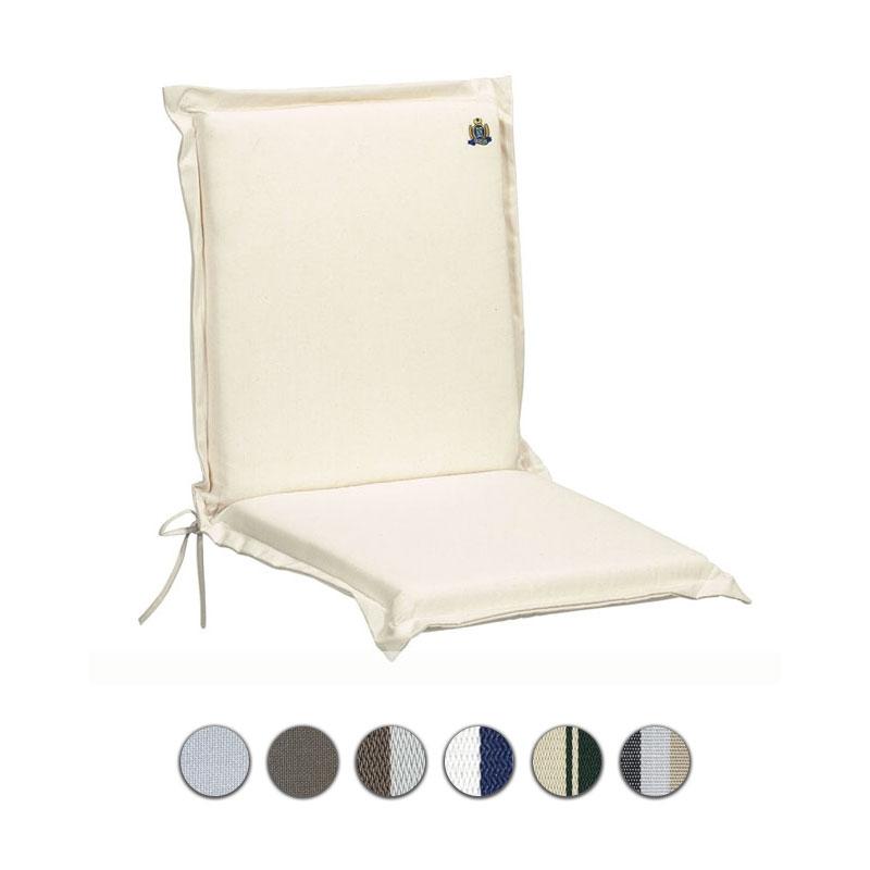 Cuscino da esterno per poltrona bassa, 92x46 cm con volant |