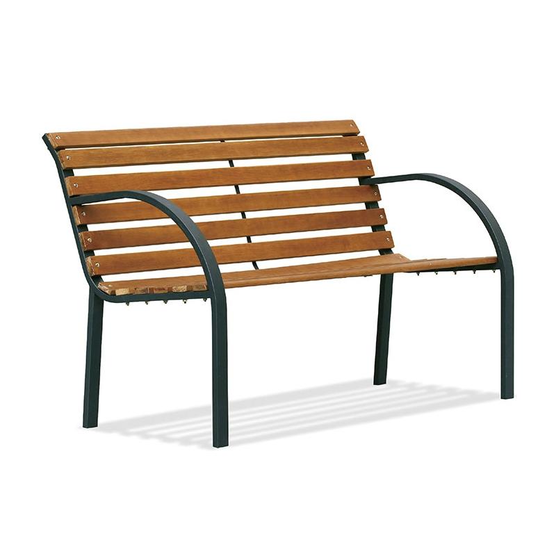 Panca da giardino in acciaio e legno PARCO  BSVillage.com