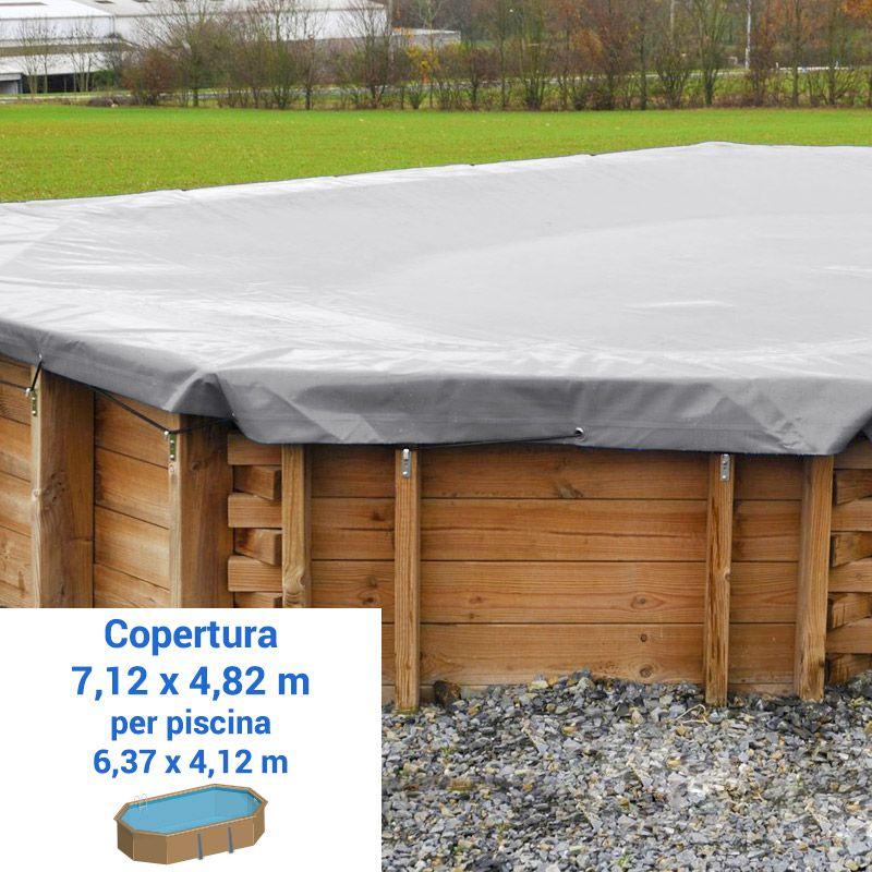 Piscina in legno poolwood 6 37 x 4 12 x h 1 33 m for Copertura invernale piscina gre