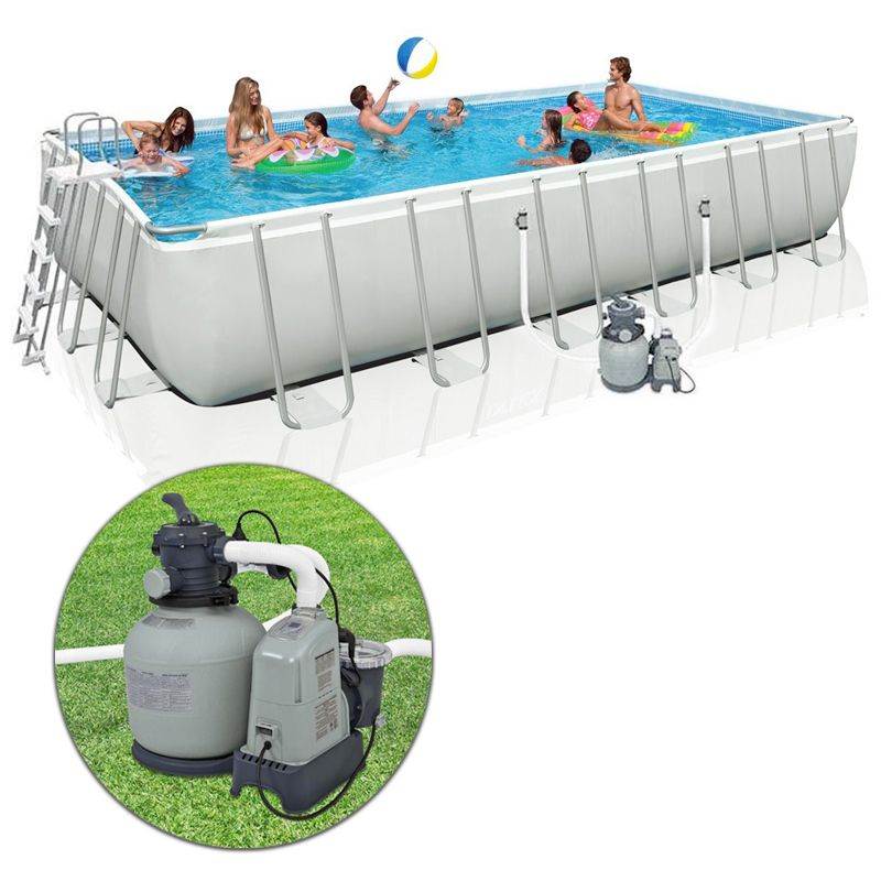 piscina intex ultra frame 7 32 x 3 66 h 1 32 m. Black Bedroom Furniture Sets. Home Design Ideas