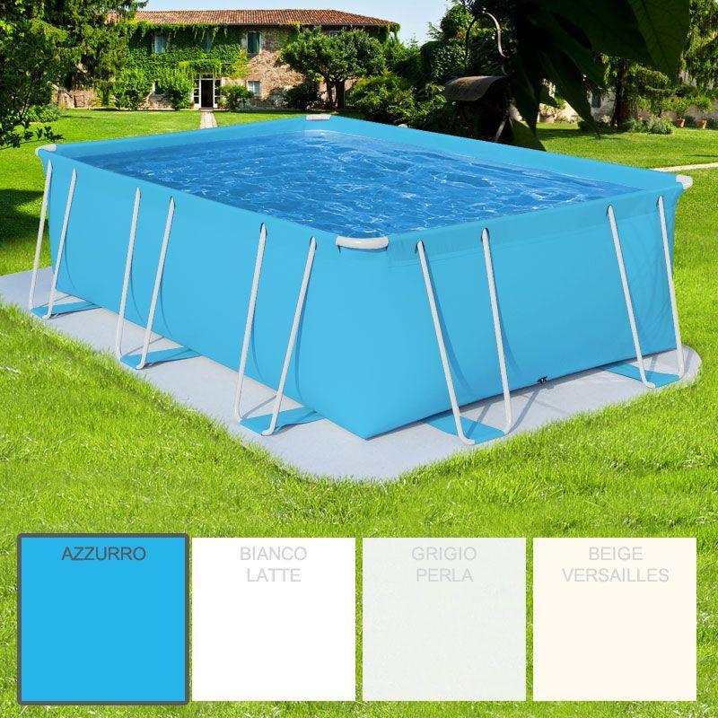 piscina fuori terra rettangolare como italica 5 00 x 3 00