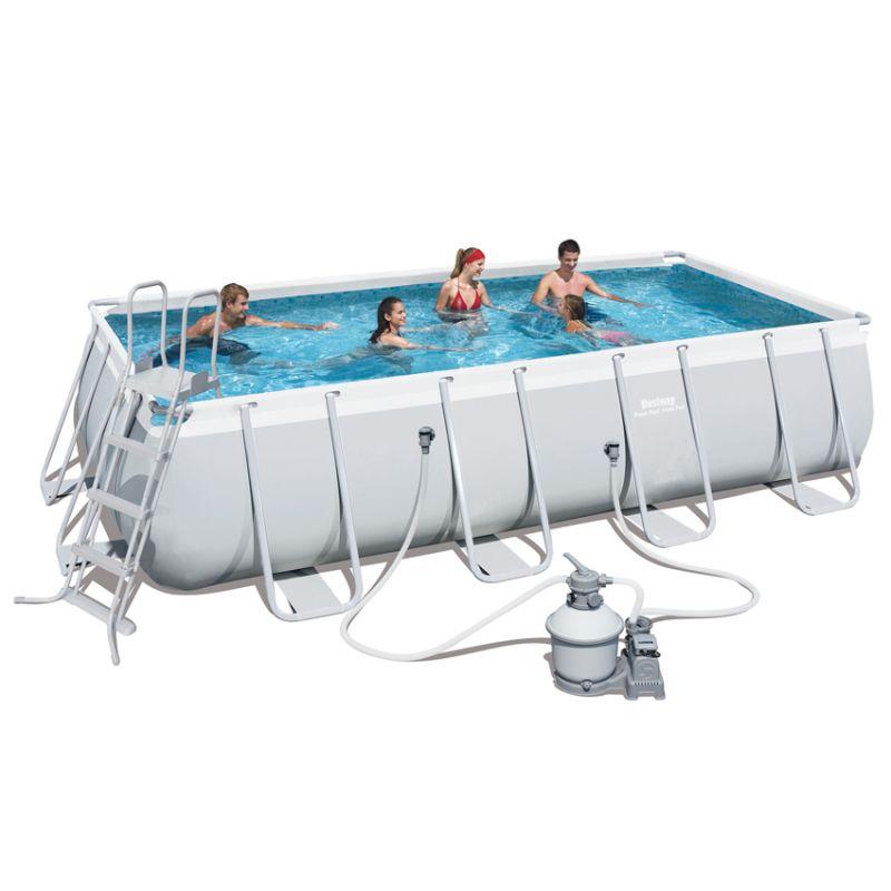 Piscina fuori terra bestway steel frame pro rettangolare 549 x 247 x 122 con pompa sabbia - Riparazione telo piscina ...