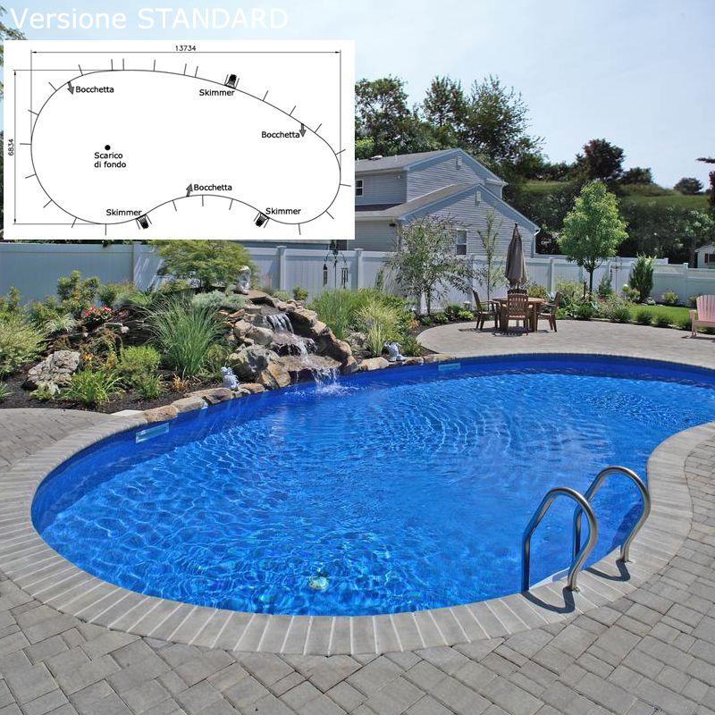 Piscina interrata liberty boomerang in pannelli d 39 acciaio 7 84 x 3 9 h1 20 m - Liberty piscina cagliari ...