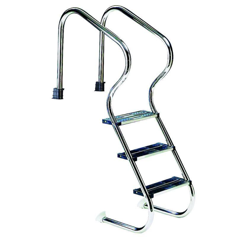 Scaletta comfort in acciaio inox per piscine interrate 3 4 gradini - Piscine in acciaio inox ...