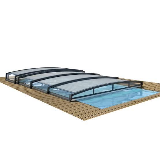 Copertura telesecopica abris per piscina for Attrezzi per piscina