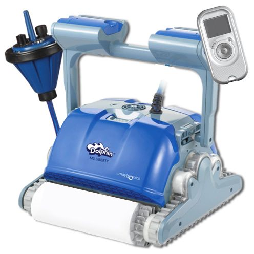 Robot per piscina dolphin supreme m5 liberty maytronics con telecomando - Motore per piscina ...