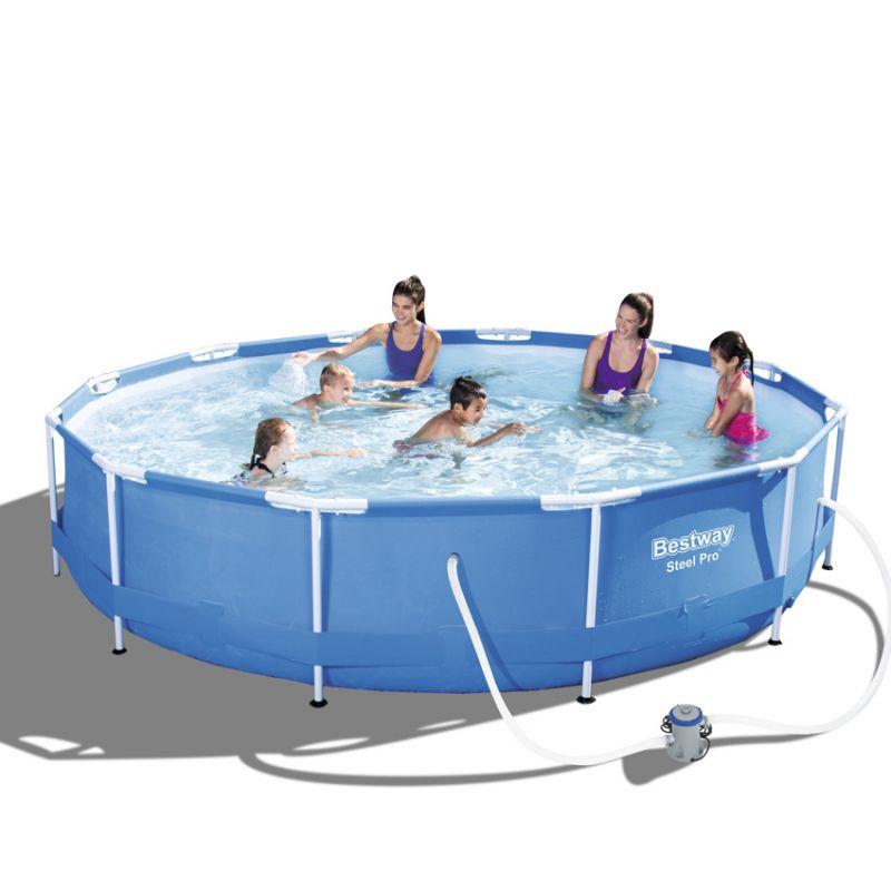 Piscina fuori terra bestway steel frame rotonda 3 66 x h 0 76 m - Filtro cartuccia piscina ...