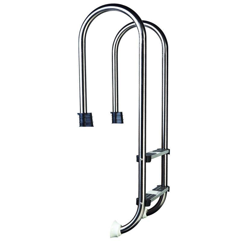 Scaletta per piscina interrata slim in acciaio inox 304 - Gradini per piscine ...